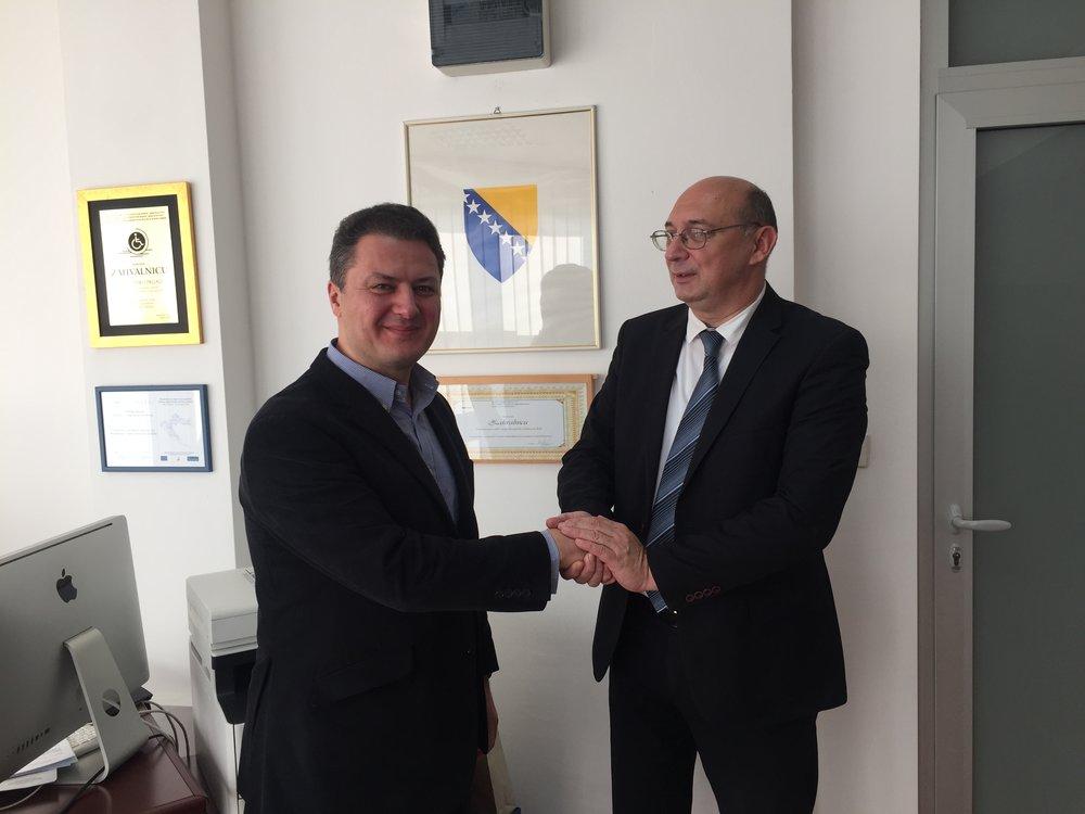 With Deputy Prime Minister Vesko Drljaca