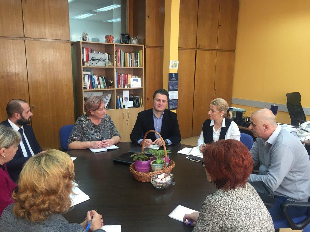 With Sarajevo Minister Amela Dautbegovic
