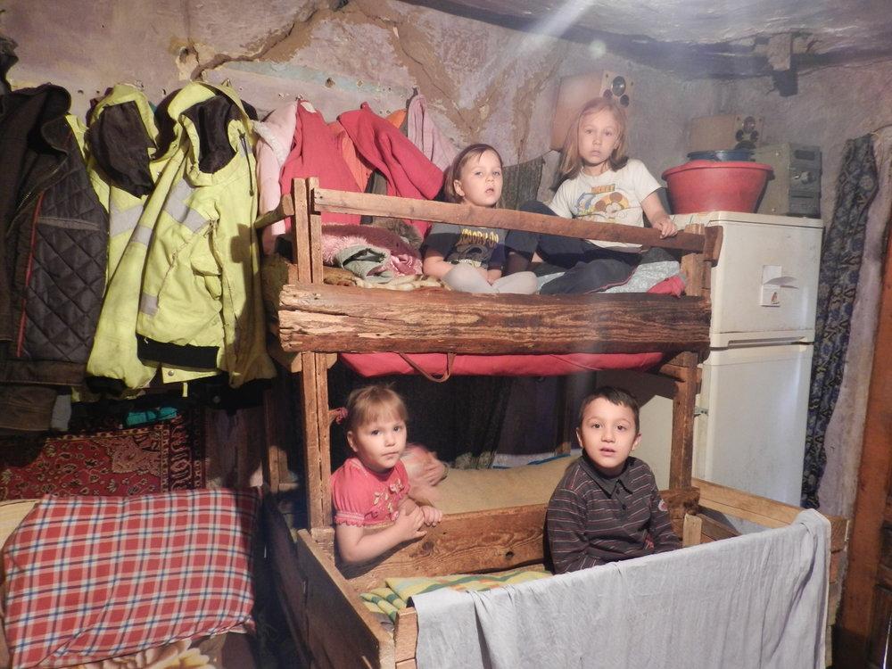 Paturile celor cinci copii