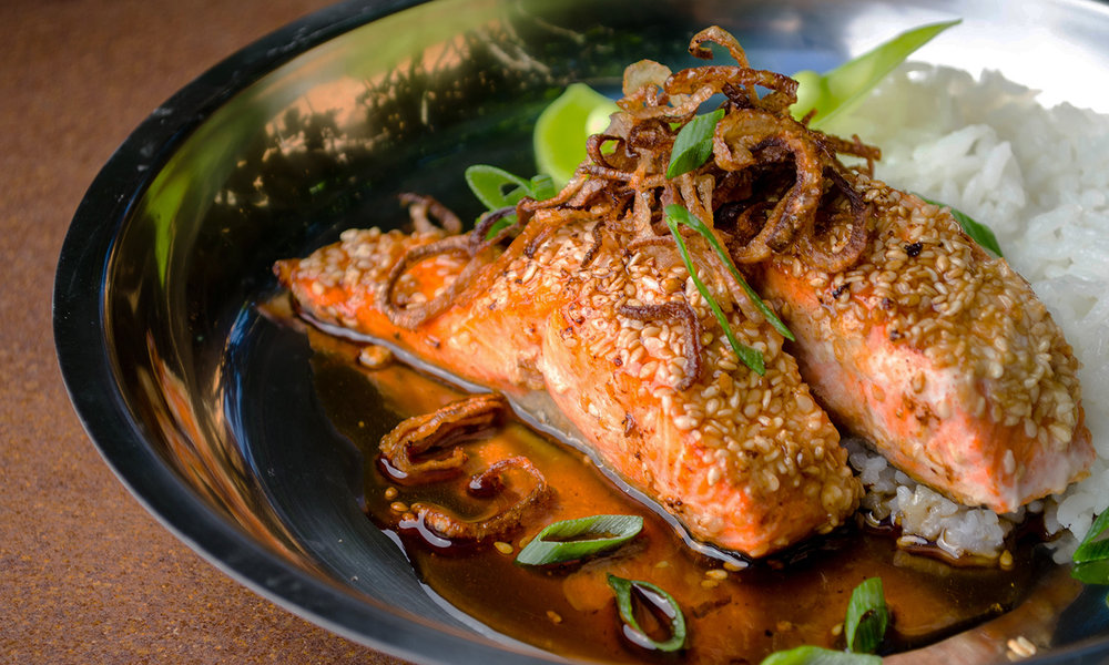 Sesame Wild Bc Salmon With Maple Soy Glaze Bc Salmon