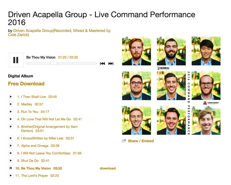 Driven Acapella Group Rebrand — Cole Zarick