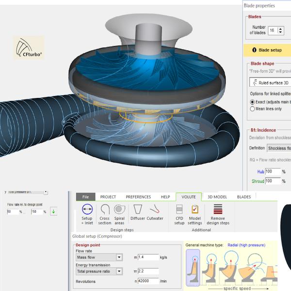 CFTurbo - Software di progettazione per turbo-macchine:Soffianti |Ventilatori | CompressoriTurbine | Pompe | Volute