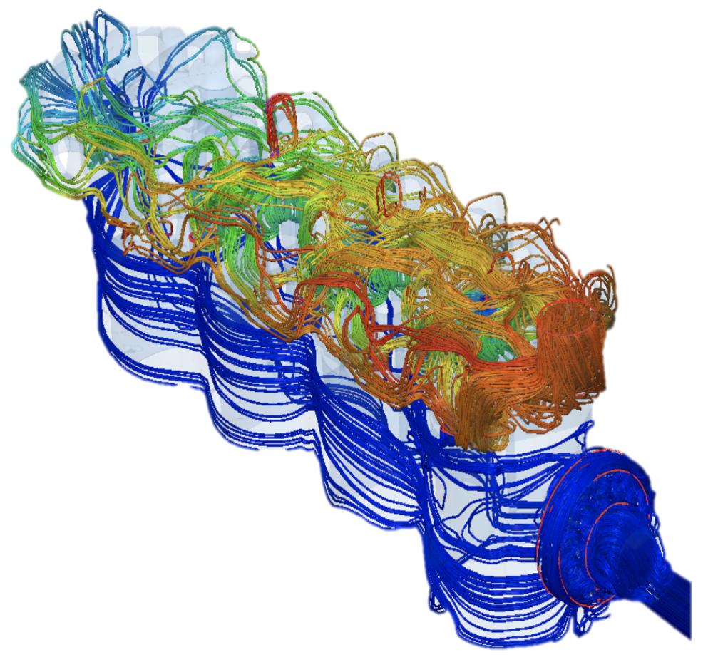 - SimericsMP gestisce con notevole efficienza il calcolo di sistemi di raffreddamento.La facilità d'impostazione del modello e la velocità di convergenza, anche su macchine di calcolo non dedicate, favorisce l'integrazione del calcolo tridimensionale nel processo progettuale.SimericsMP costruisce la griglia di calcolo più adatta alla specifica topologia grazie ad un algoritmo proprietario (CAB mesher), che è in grado di catturare (mediante raffinamenti automatici progressivi) anche particolari o trafilamenti dell'ordine del micron.L'integrazione della termica del dominio solido circostante il percorso del refrigerante (Conjugate Heat Transfer) è immediata e gestita tramite interfacce conformi che riducono al minimo l'errore nel calcolo dei flussi termici a parete.Analisi stazionarie e transitorie convergono velocemente e forniscono risultati accurati e ripetutamente validati.