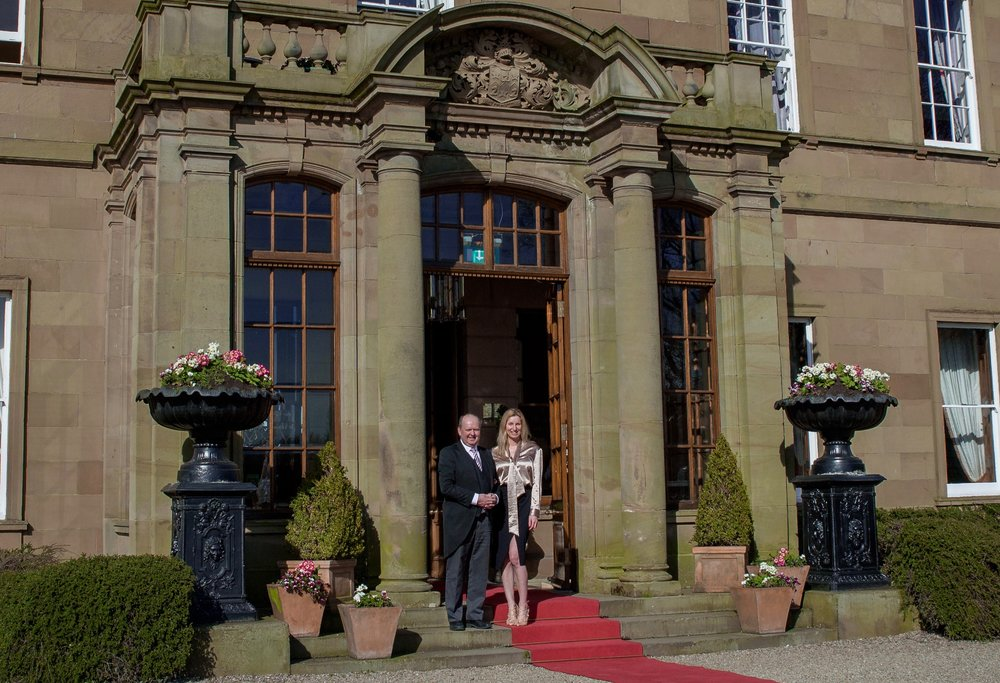 Andrew Coghlan & Sandra Johnson at Rudby Hall Lauren Braithwaite Photography
