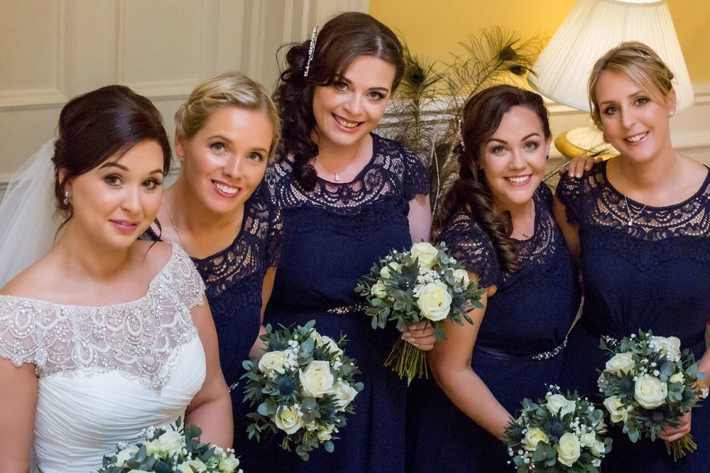 Emma Wallace with her bridesmaids at Rudby Hall.jpeg