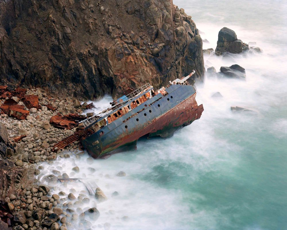 Shipwreck, Mayon Cliff, Pigment Print, 152 x 190 cm, 2008, Edition of 7