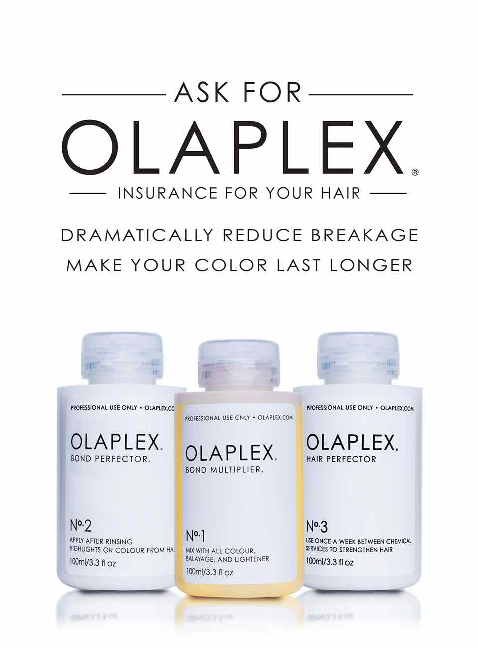 Olaplex hair treatments in Clevedon at Price-Driscoll