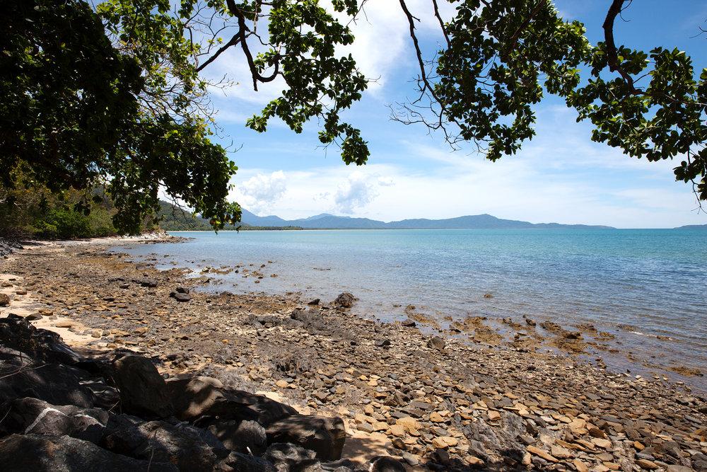 reef and coastline -