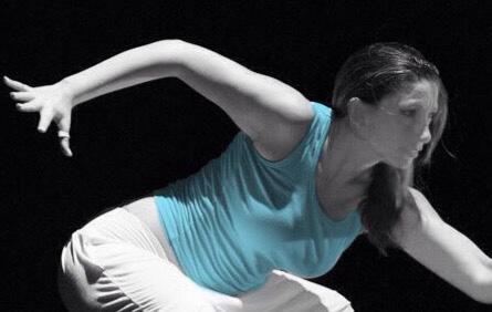 Federica Varone, durante uno spettacolo di danza.