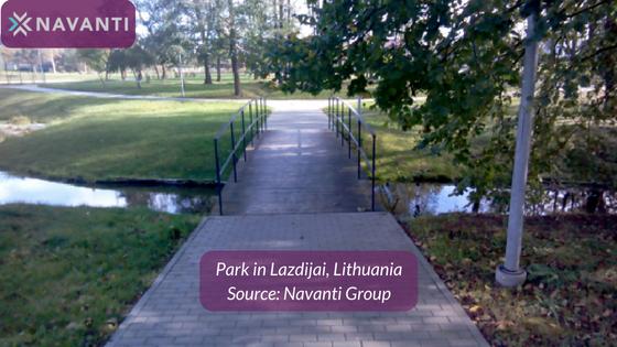 Park in Lazdijai, Lithuania