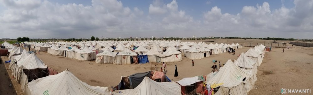 Panoramic view of al-Shawkani camp.