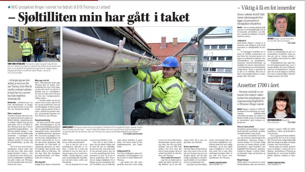 Romsdal Budstikke 03.11.2018 Se reportasje i Romsdals Budstikke    her    (krever innlogging).