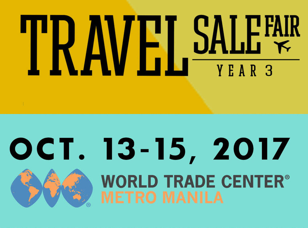 HRAP SIGNS WITH TRAVEL SALE FAIR 2017 - HRAP has partnered with the 3rd TRAVEL SALE FAIR 2017, which will be held on October 13-15 (Friday - Sunday) at the World Trade Center Metro Manila