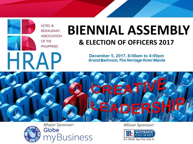 BIENNIAL ASSEMBLY & Election of Officer 2017 - December 05, 2017