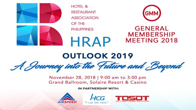 HRAP General Membership Meeting 2018 - November 28, 2018