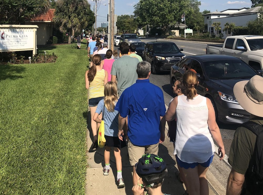 Nearly 120 residents from the Bay to Bay Blvd. corridor took the streets on April 29. Their message? Our neighborhood is not just an on-ramp to the Crosstown Expressway.