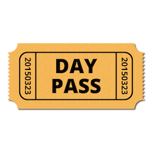 Resort Day Pass - $10/person - valid for Gymnasium, Indoor Pool, two lakes, Disc Golf, walking trails and more. Events/paid activities are an extra fee. Allows you to check out the resort and all we have to offer!
