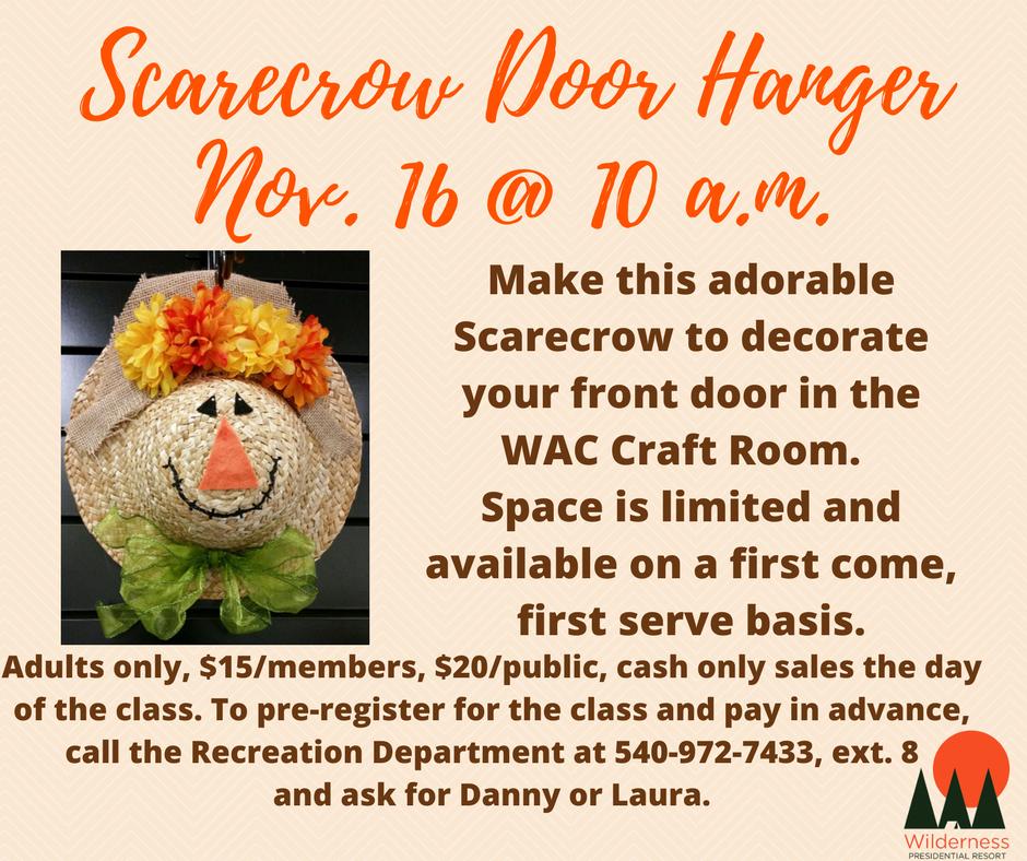 Scarecrow Door Hanger