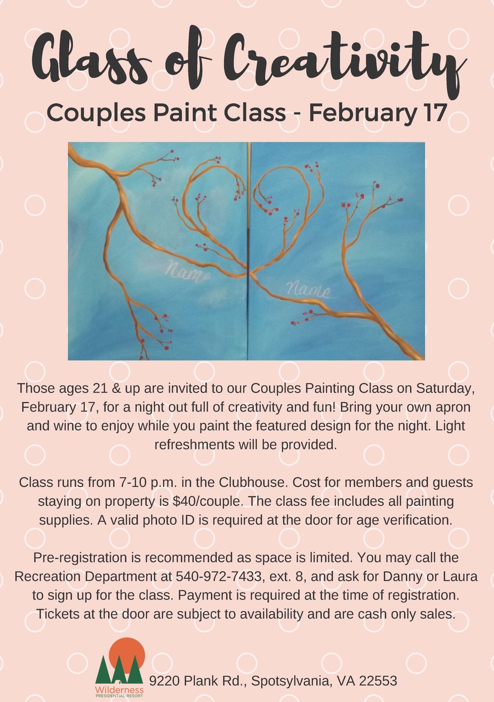A Glass of Creativity Paint Night