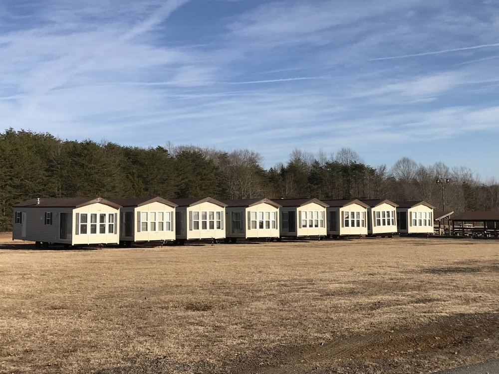 Existing RVs taken off lakefront and temporarily stored before their repositioning.
