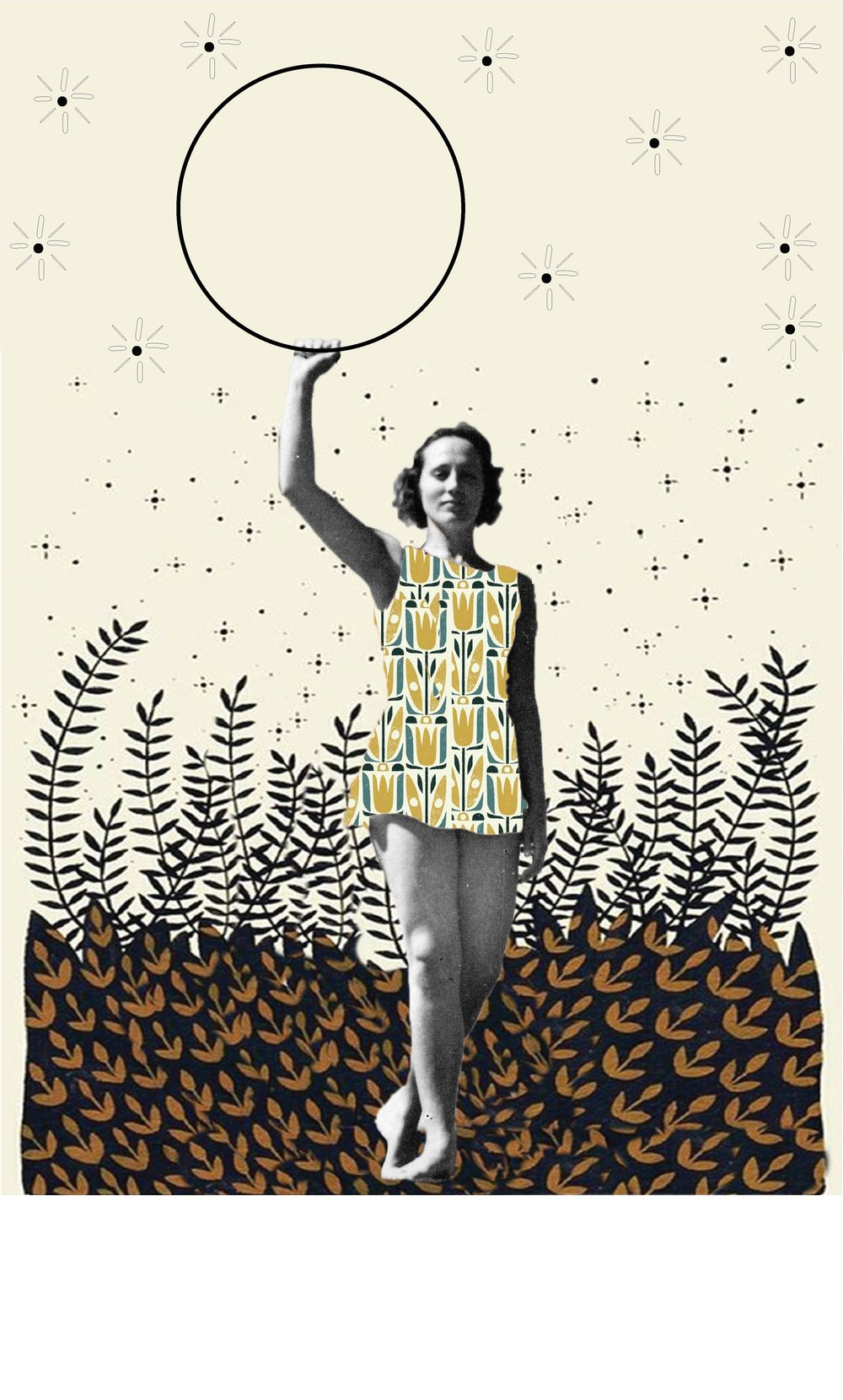Vintage Athletes - Fabric design and film photography collage