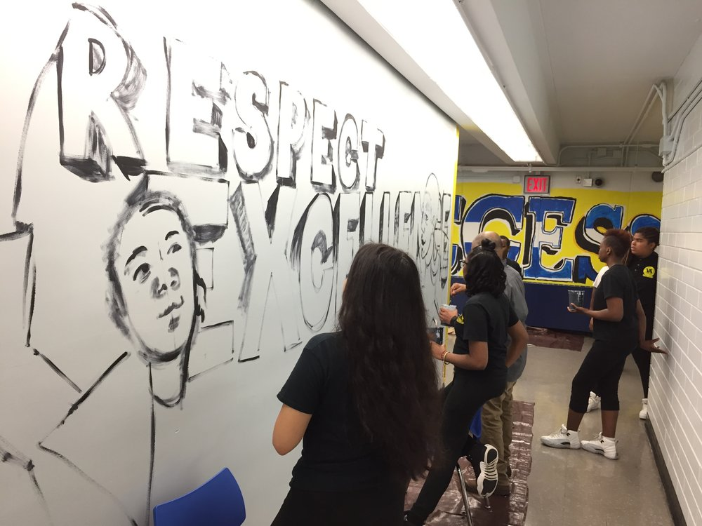 Village Academy Visual Arts Mural 2017