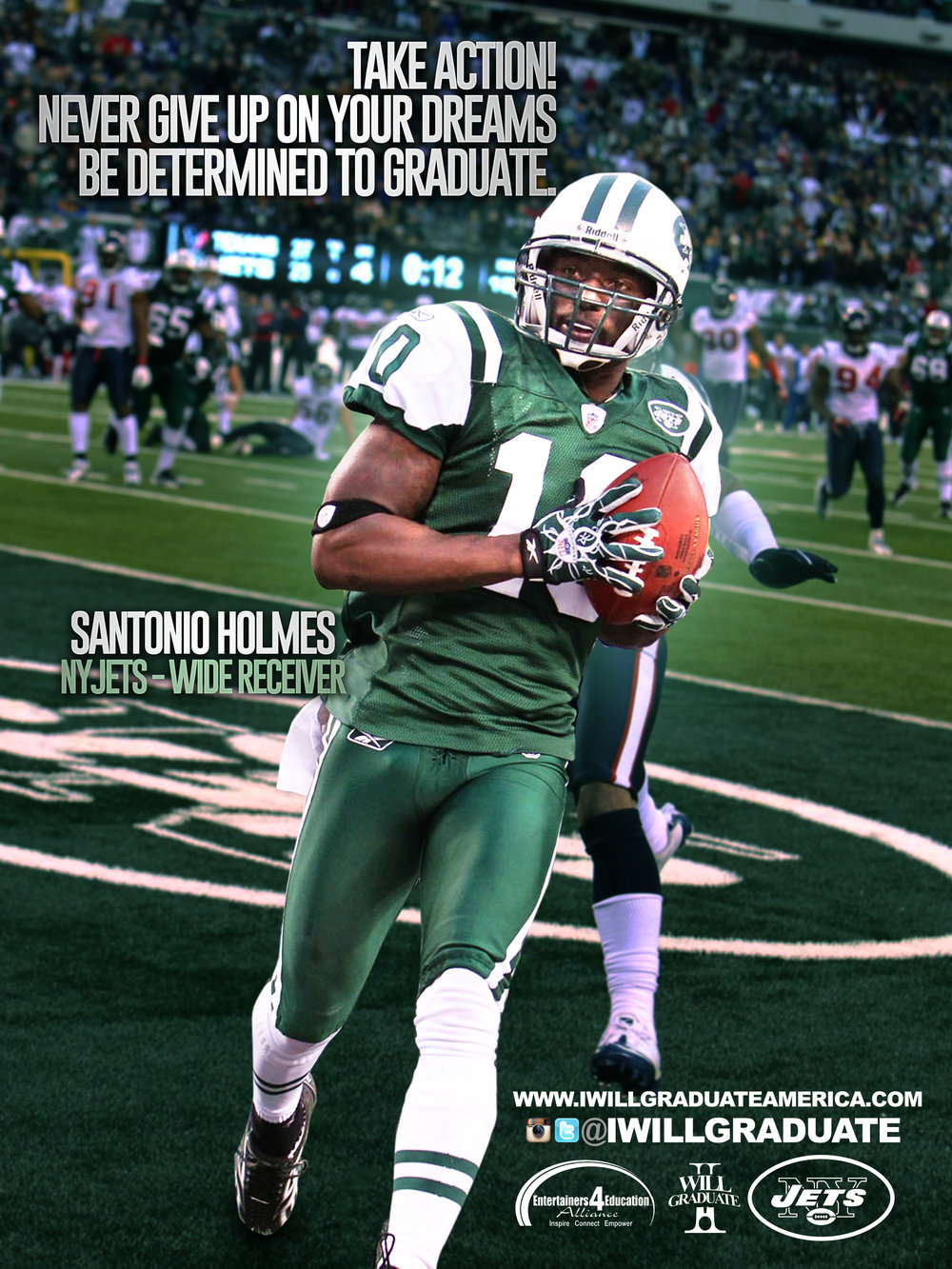 Former NY-JETS wide receiver Santonio Holmes Poster Campaign.