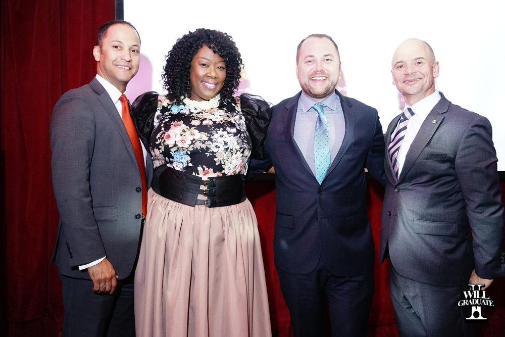 Left to Right: Henry Rubio (VP of CSA), David Vazquez (Principal Honoree), Tõnya Lewis Taylor (E4EA) and Mark Cannizzaro (CSA)