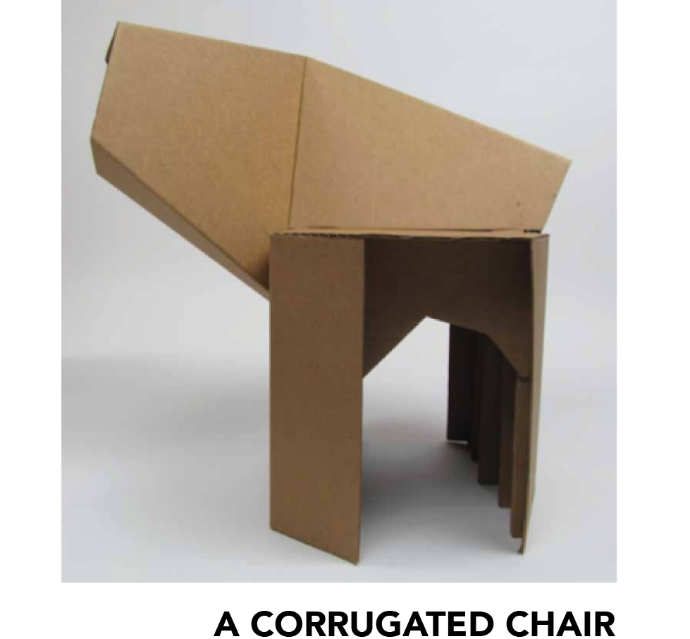 CLICK ON A CORRUGATED CHAIR FOR DETAILS