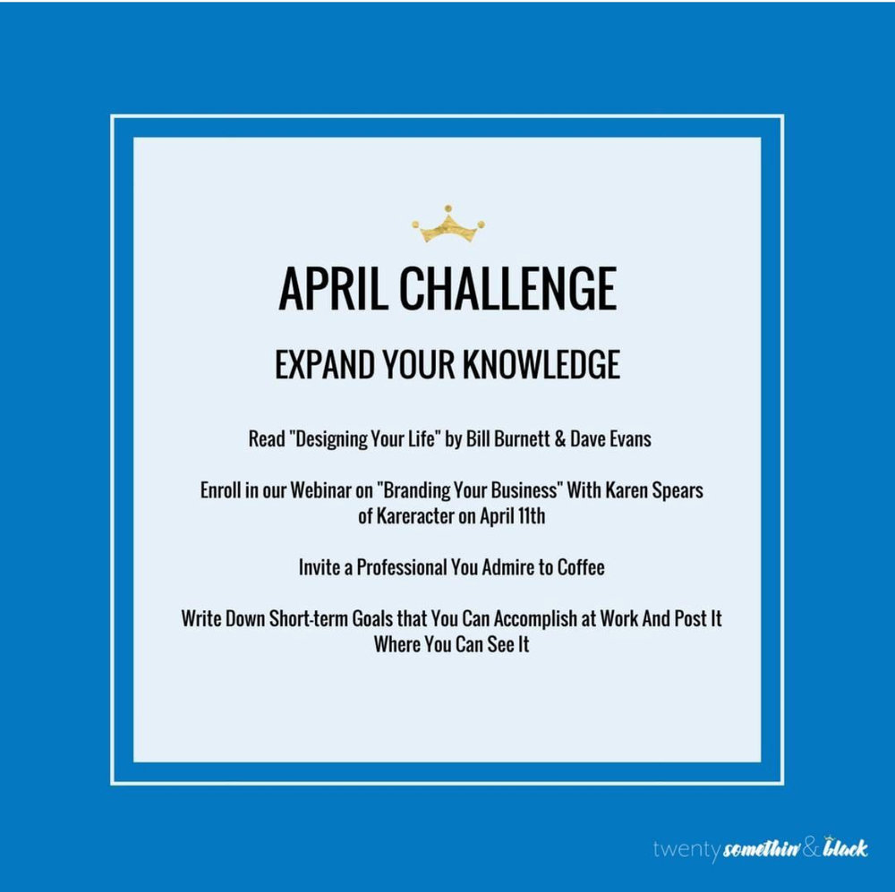 """April Challenge   The following is placeholder text known as """"lorem ipsum,"""" which is scrambled Latin used by designers to mimic real copy. Mauris egestas at nibh nec finibus. Vivamus a ante congue, porta nunc nec, hendrerit turpis."""