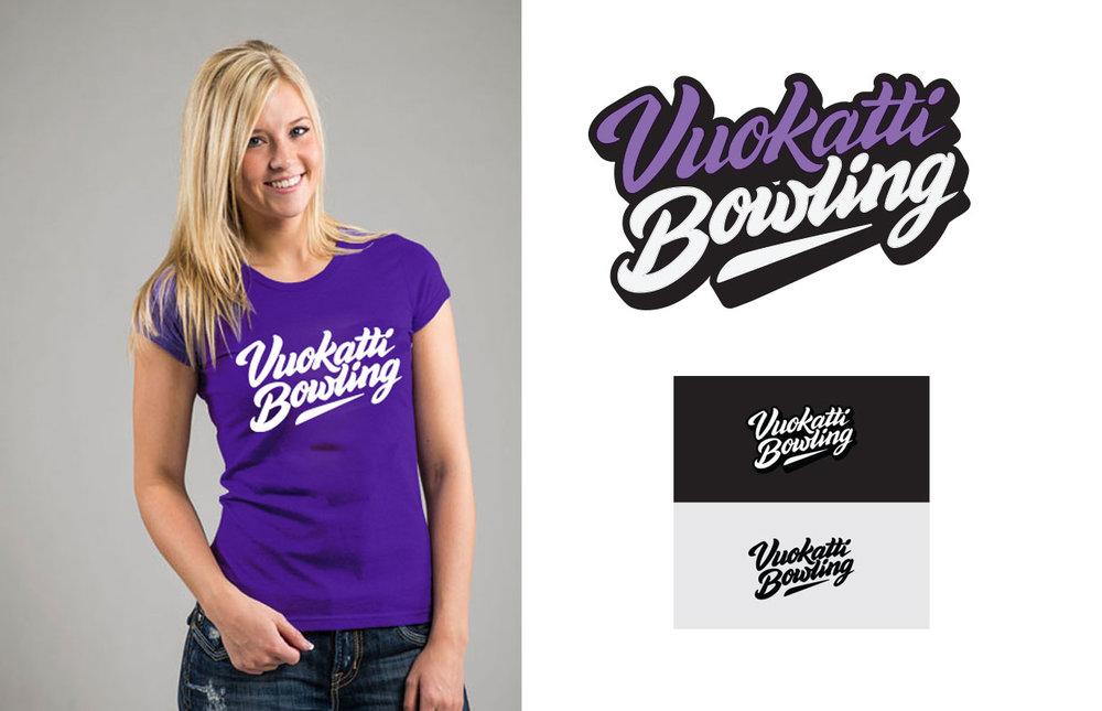 Vuokatti Bowlingin uusi visuaalinen ilme ja logon suunnittelu.