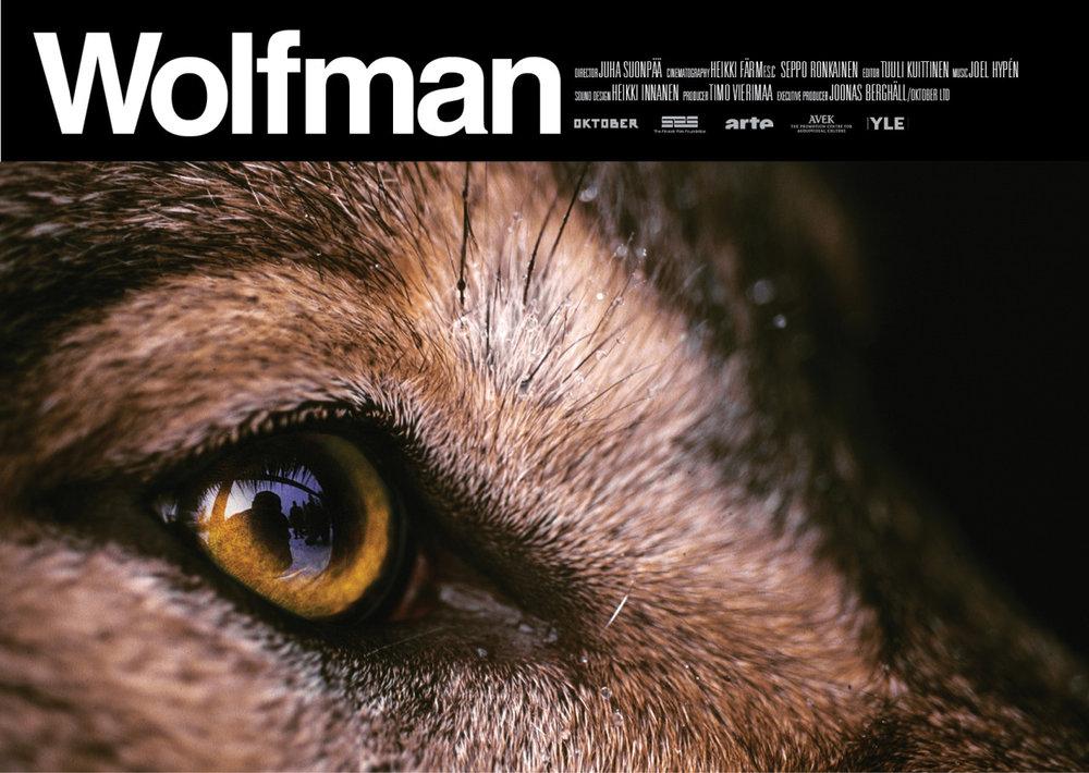 Hukkamies/Wolfman (2013). Julisteen suunnittelu Juha Suonpään ohjaamaan Hukkamies -elokuvaan, joka perustuu Ronkaisen kuvaamiin videomuistiinpanoihin 13 vuoden ajalta. Elokuva kertoo ihmisen ja erittäin uhanalaisen eläimen ristiriitaisesta suhteesta.
