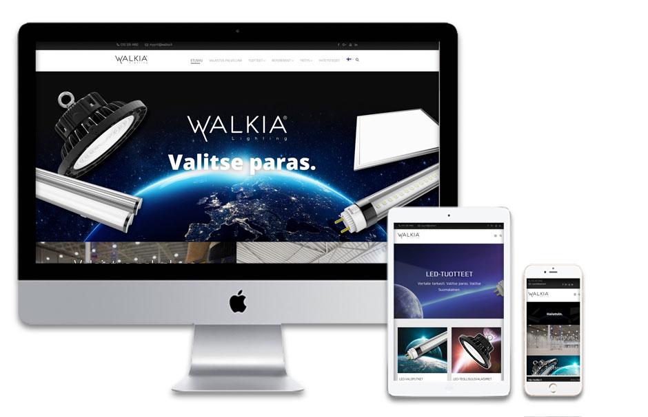 Walkia Group Oy / verkkosivujen suunnittelu ja toteutus.