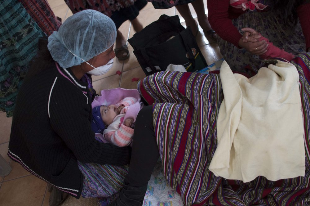 Our partners participating in training as part of the midwives program.