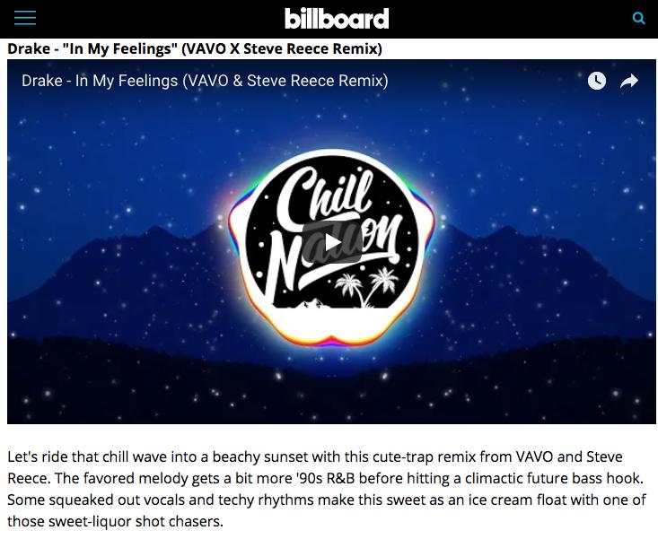 Billboard Includes VAVO's Remix Of