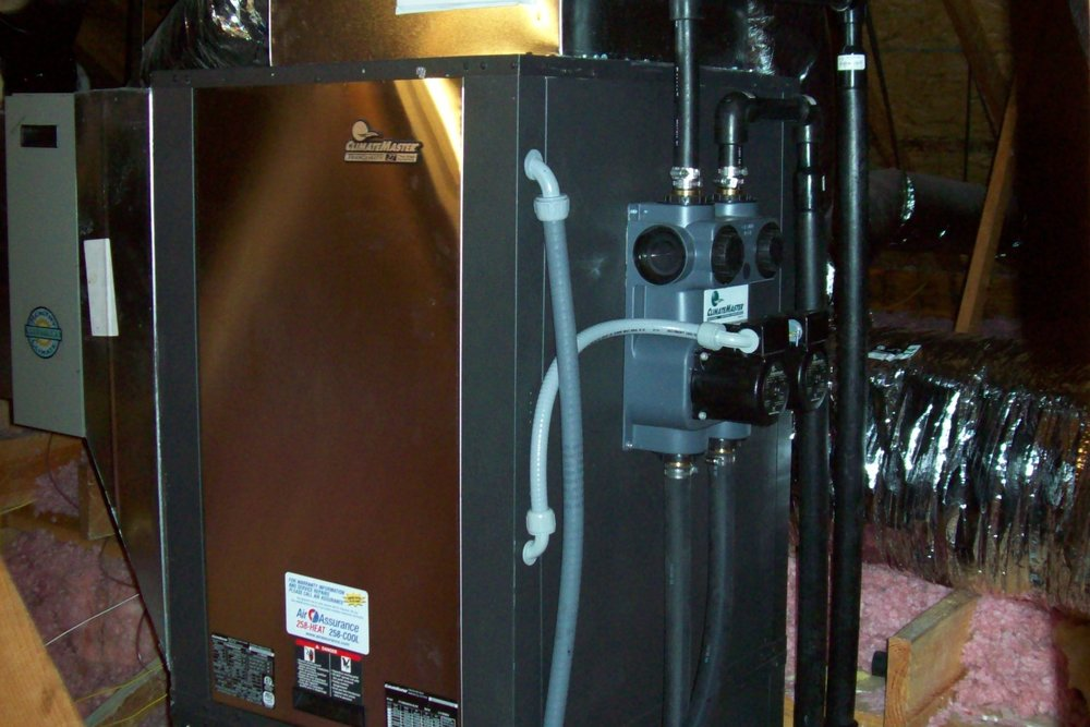 Here is one of our many geothermal heat pump installations