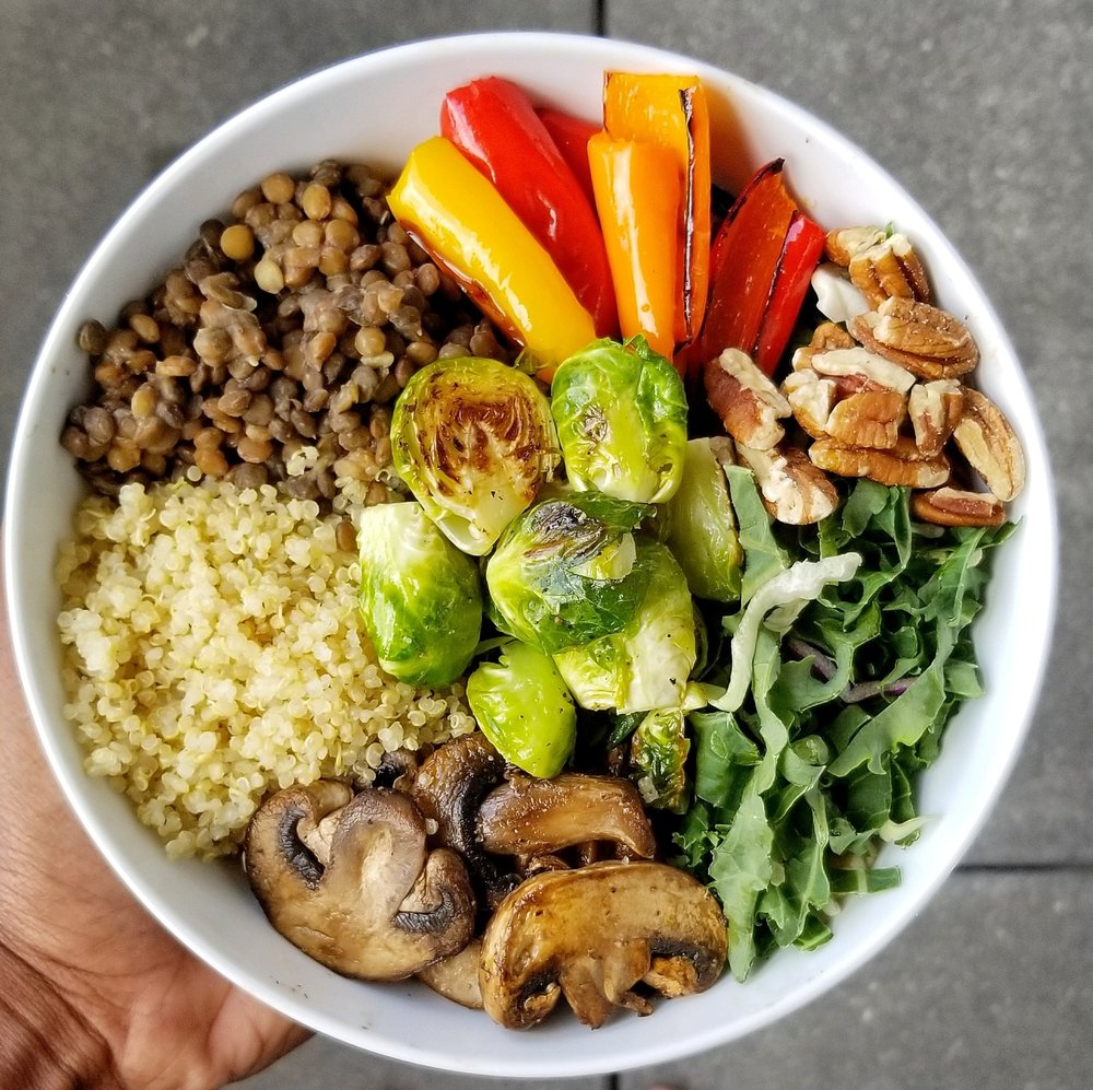 Plant-based bowls I make in my kitchen.. I found a new love for cooking the last year.