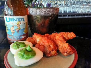 "image of Free Form IPA paired with ""Green Eggs & Ham"" and ""Fire and Honey Chicken Wings"""