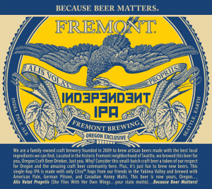 image courtesy Fremont Brewing