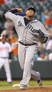 """image """"Seattle Mariners starting pitcher Felix Hernandez (34)"""", sourced via Creative Commons, from Keith Allison's Flickr page"""