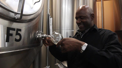 former Portland Trailblazer Terry Porter sampling at Gilgamesh Brewing