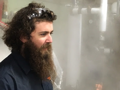 image of Head Brewer, Logan Mayfield - sourced from Ordinance Brewing's newsletter
