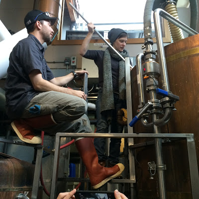 image of Brewer Nick Poggiali and Eve Kuttemann, courtesy Everybody's Brewing