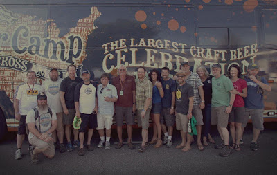 Steve Dresler (center, in red shirt), sourced from Sierra Nevada Brewing Co.