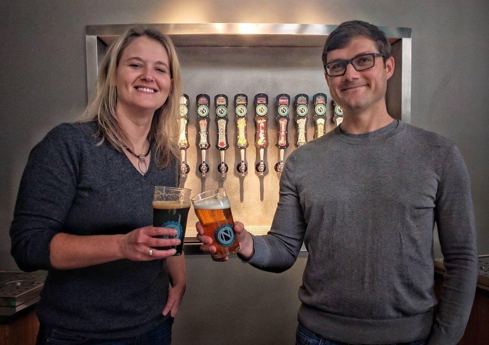 image of Cheryl Collins and Nikos Ridge, courtesy Ninkasi Brewing Company