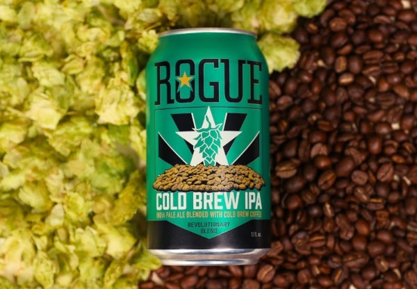 Cold-brewed for over 12 hours and then double filtered for a silky taste, Stumptown's Cold Brew Coffee is blended with an IPA that Rogue specially crafted to accentuate two favorite flavors.
