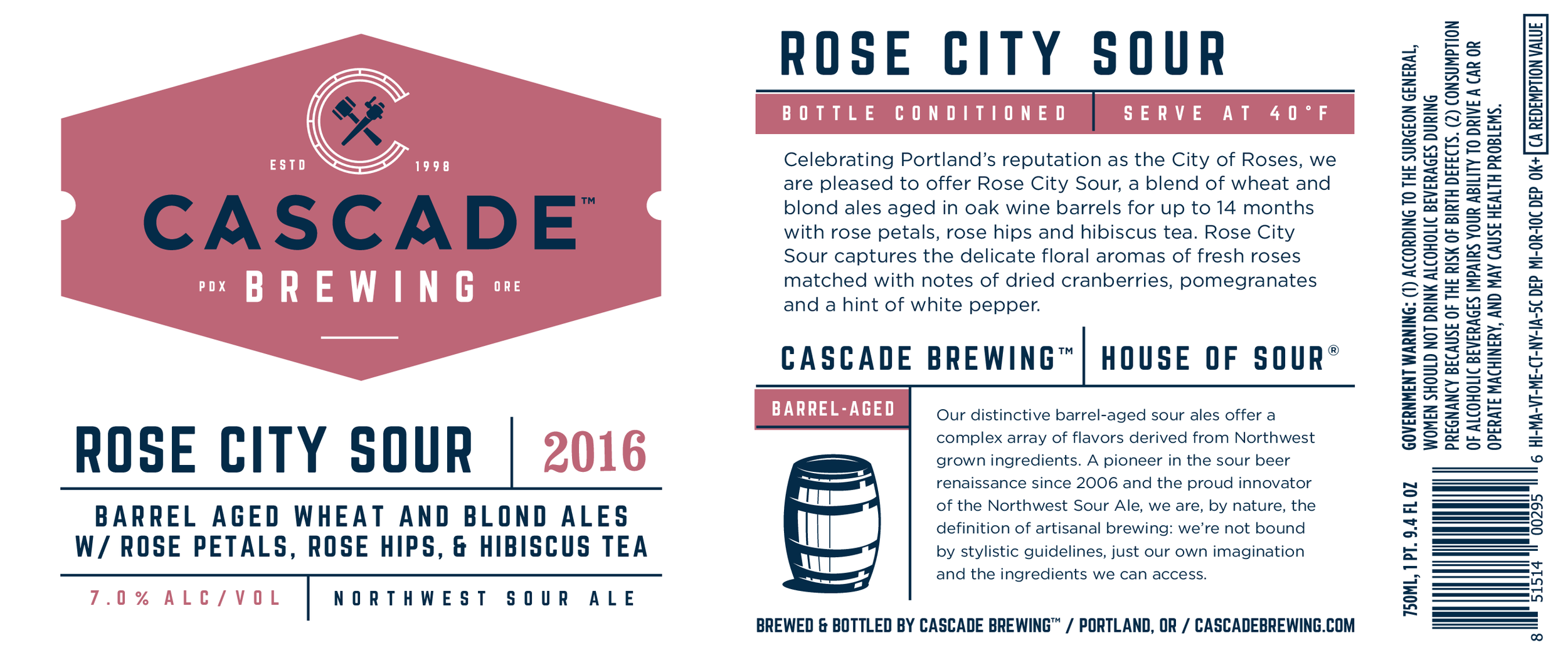 Cascade Brewing receives Gold for their Framblanc, at this year\'s ...