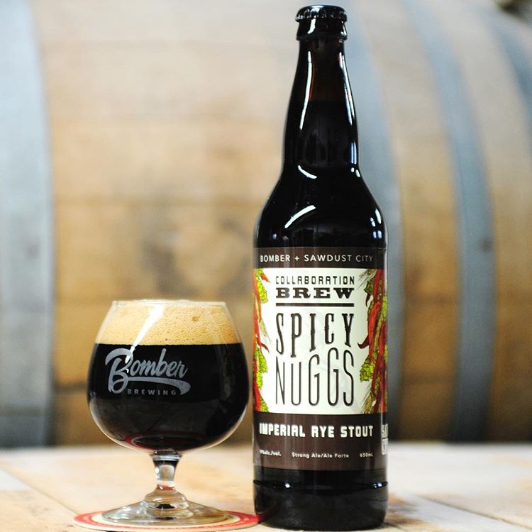 Sawdust - Bomber Spicy Nuggs Imperial Rye Stout — The