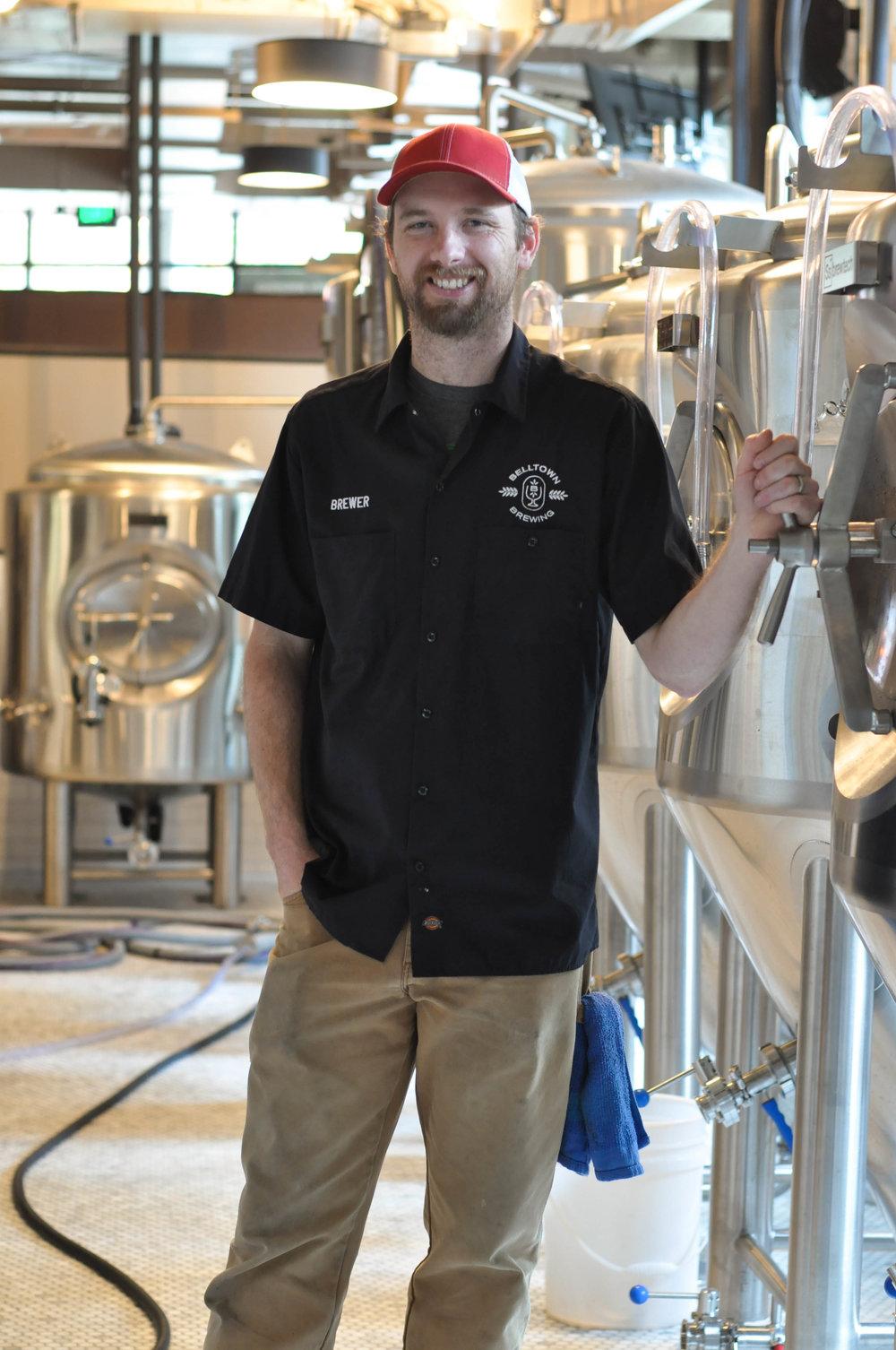 Belltown Brewing's head brewer Adam Frentz