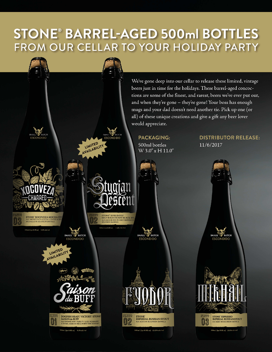 Stone Brewing releases a limited-edition series of barrel